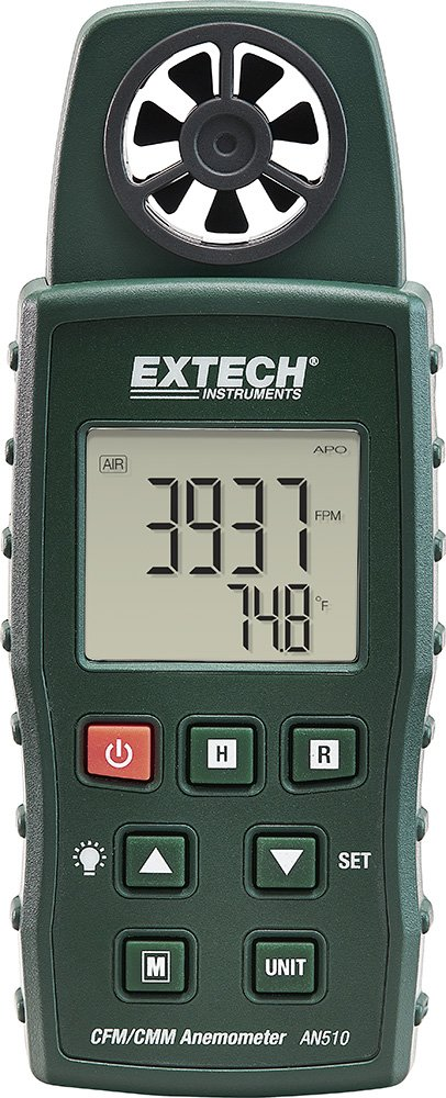 Extech AN510 CMM/CFM Anemometer with Type K Measurement
