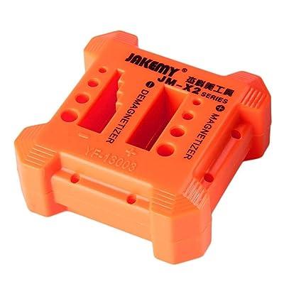 iKNOWTECH Solid Magnetizer Demagnetizer Professional Screw Bits Magnetic Tool, Orange Magnetizer, Demagnetizer, Magnetizer Tools, Screwdrivers Magnetizer, Demagnetizer Tools