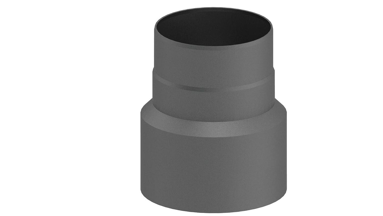 Ofenrohr-Übergangselement Reduzierung von Ø 120 auf Ø 110 mm, schwarz Ferro-Lux