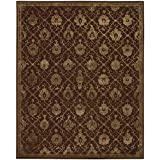 """Nourison Regal (REG05) Chocolate Rectangle Area Rug, 8-Feet 6-Inches by 11-Feet 6-Inches (8'6"""" x 11'6"""")"""