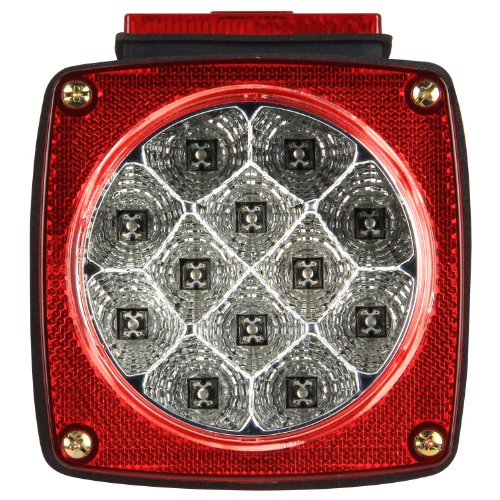Pilot Automotive NV-5083 Red Light LED 7 Function Trailer Lamp with Clear - Closeout Pilot