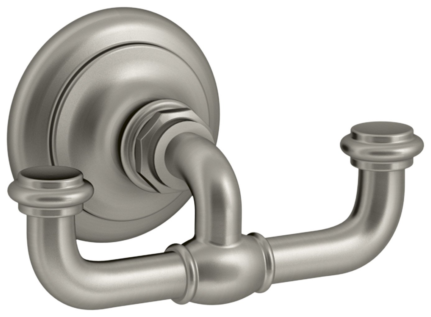 KOHLER K-72572-BN Artifacts Double robe hook, Vibrant Brushed Nickel