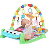 Baby Play Mat Activity Gym | Musical Kick and Play Newborn Mat with Piano, Fitness Rack Crawling Mat Activity Center Toys Gym