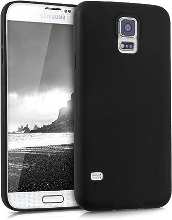 Kwmobile Hülle Kompatibel Mit Samsung Galaxy S5 S5 Neo Handyhülle Handy Case In Schwarz Matt Elektronik