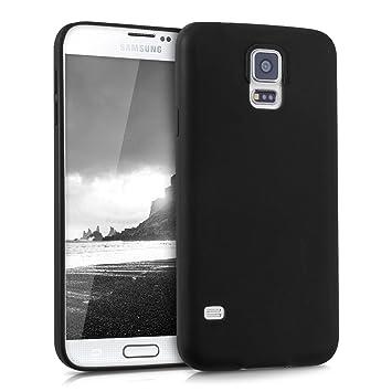 kwmobile Funda compatible con Samsung Galaxy S5 / S5 Neo - Carcasa de [TPU silicona] - Protector [trasero] en [negro mate]