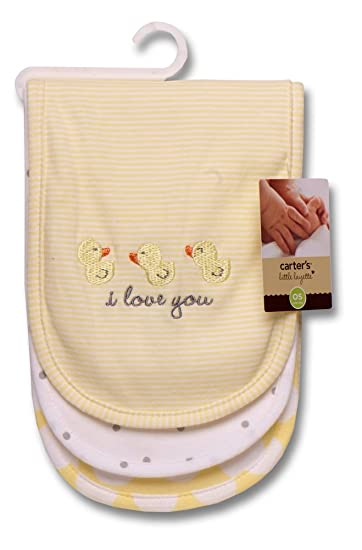 Carters 3 Piece Burp Cloth Set, Duckie I Love You