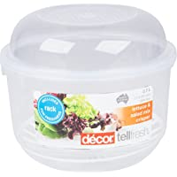 Décor Lettuce and Salad Mix Crisper Container with Removable Rack