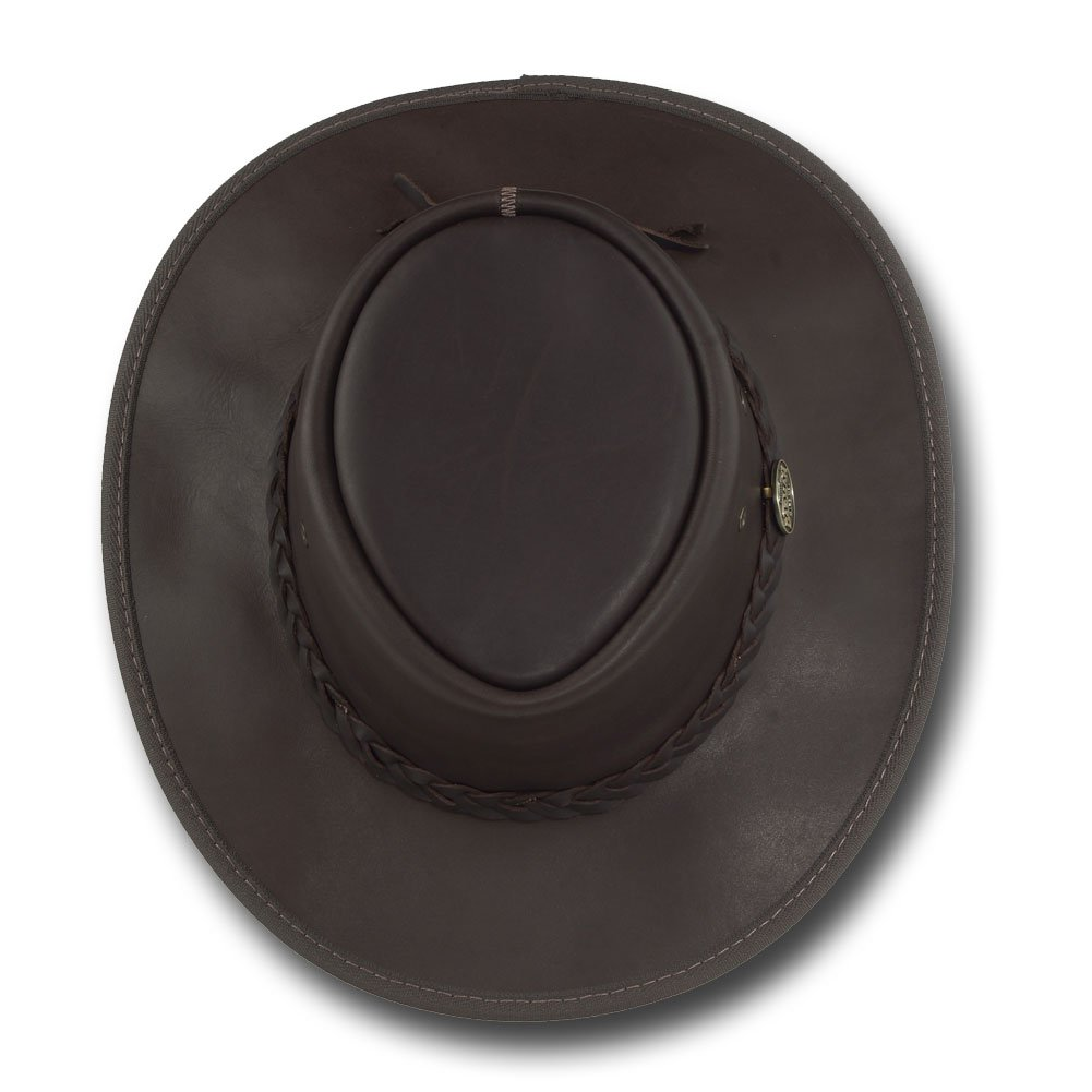 Item 1026 Barmah Hats Squashy Fullgrain Leather Hat
