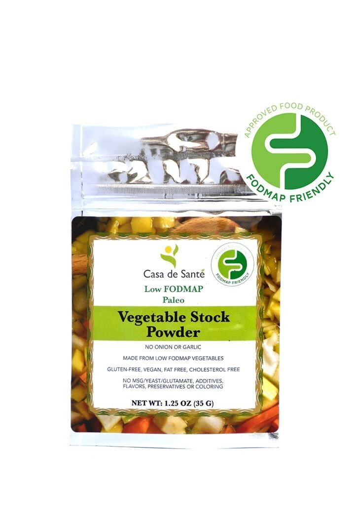 Casa de Sante Low FODMAP Vegetable Stock Powder - No Onion No Garlic, Artisan Boullion, Broth, Seasoning, Gluten Free, MSG Free, Paleo, 3 Pack