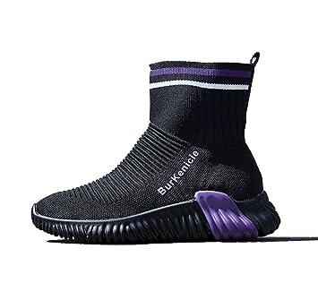 Lucdespo Señoras Zapatos Casuales Botas Altas Calcetines Zapatos elásticos Botas Cortas Zapatos de Viaje Zapatillas Running