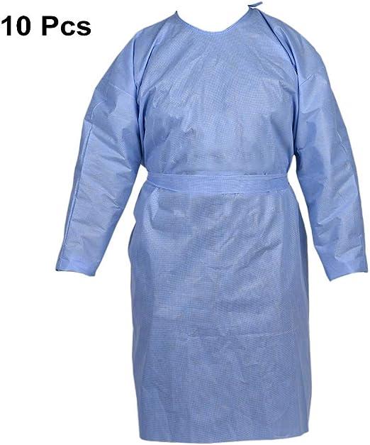 Vestidos de aislamiento desechables gruesos, 10 piezas Ropa de ...