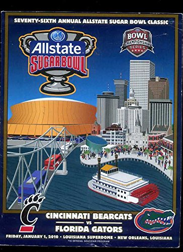 Allstate Sugarbowl Cincinnati Bearcats Vs Florida Gators 2010 Program Tim Tebow Cincinnati Sugar