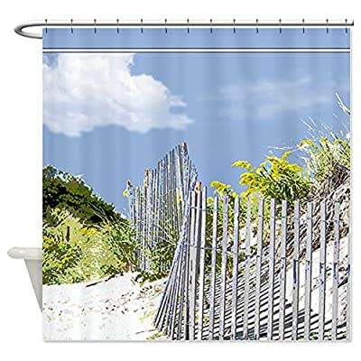 CafePress Beach Fence and Dune Shower Curtain
