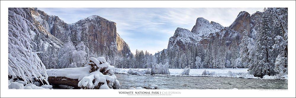 Yosemite National Park Yosemite Village California Framed Panorama Poster