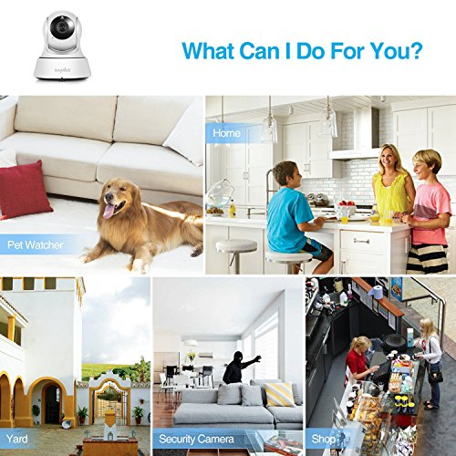 SANNCE Mini Wireless IP 720P HD Home Surveillance Camera System Baby Monitor -Enhanced Wi-Fi 3dB Antenna