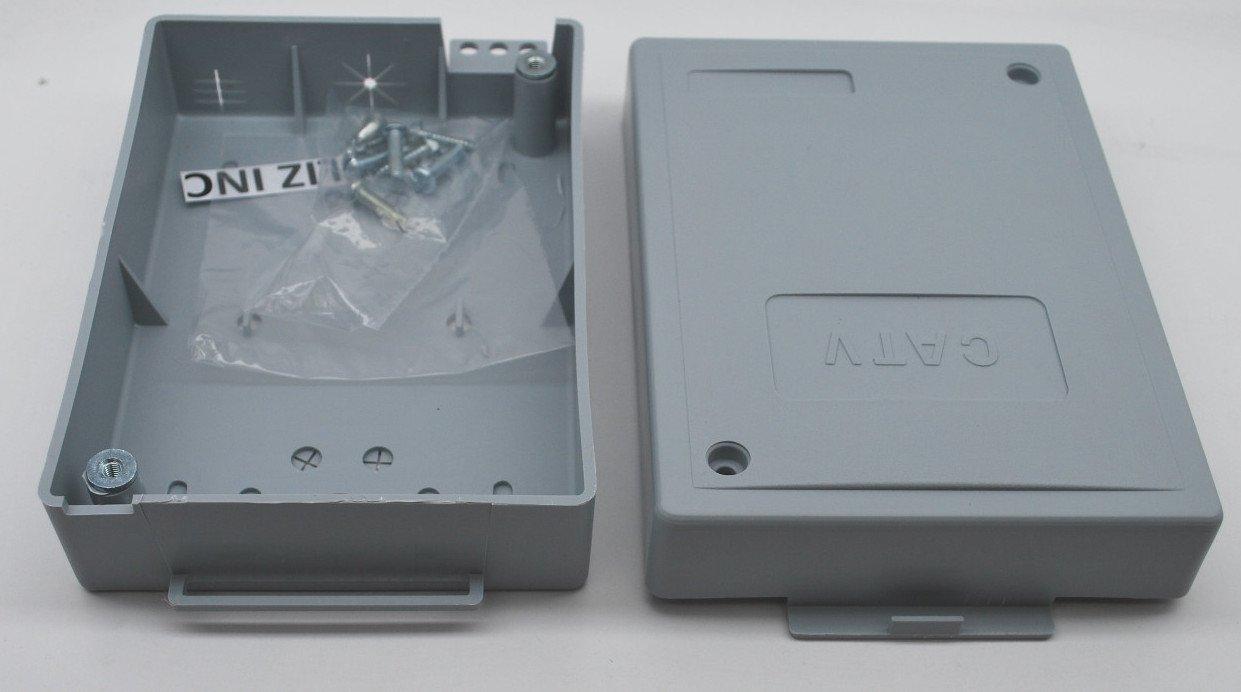 7''x5''x1.5'' OUTDOOR CABLETEK ENCLOSURE PLASTIC GRAY CASE UTILITY CABLE BOX MTE-S