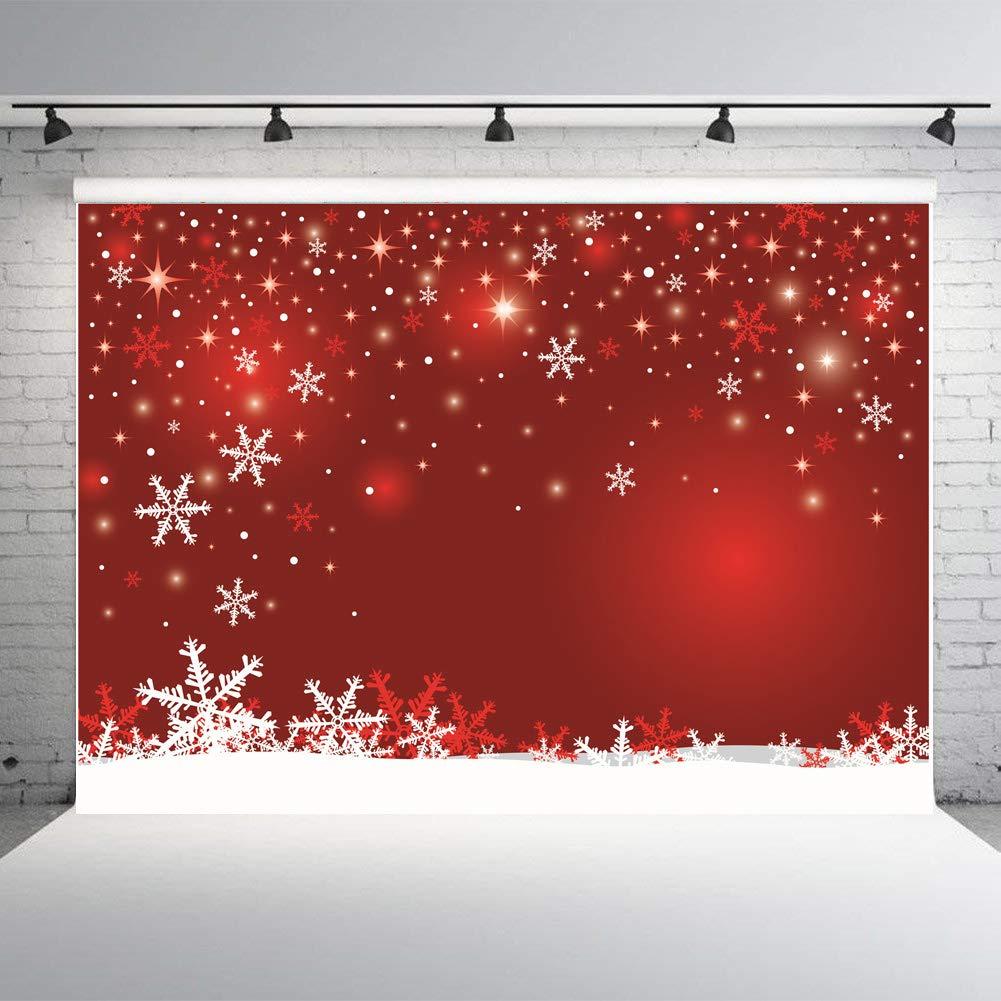 Amazon.com : Art Studio Red Winter Snowflake Happy Year Photography ...