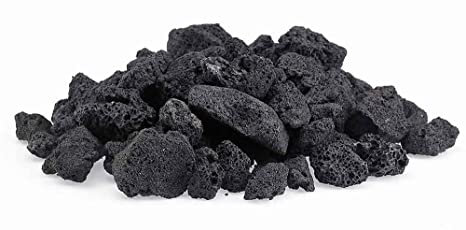 Black Lava Rock For Gas Fire Pits. 20LBs - Amazon.com: Black Lava Rock For Gas Fire Pits. 20LBs: Garden & Outdoor