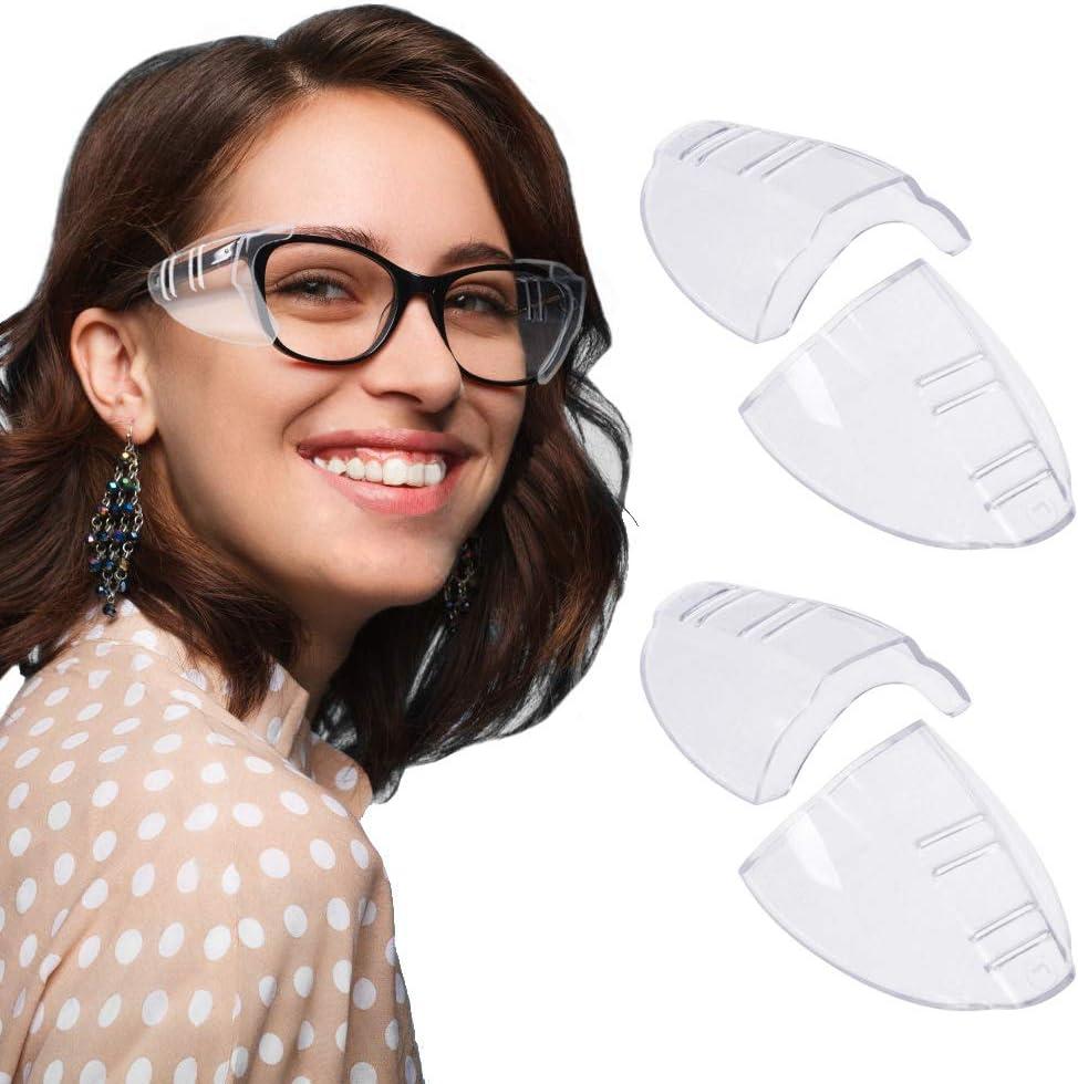 RMENOOR - 2 Pares de Protectores Laterales de Seguridad para Gafas de Sol de tamaño pequeño a Mediano