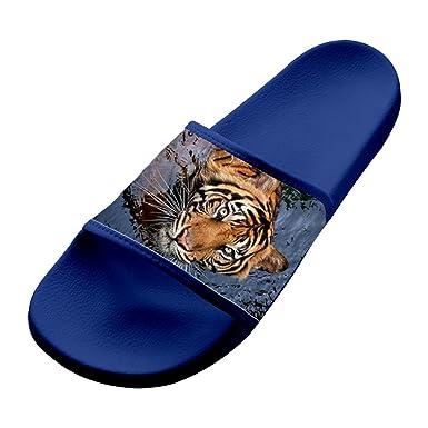 08c3fec0b914f6 Swimming Leopard Panther Unisex Adults Home Summer Hawaii Sandal Slipper  Bathroom Flats Flip Flops Open toed
