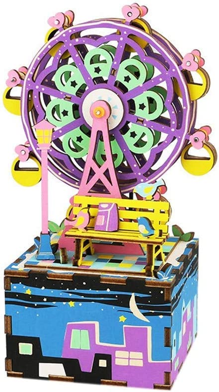 WANNA.ME DIY 3D Robot Rompecabezas de Madera Juego Ensamblaje Caja ...