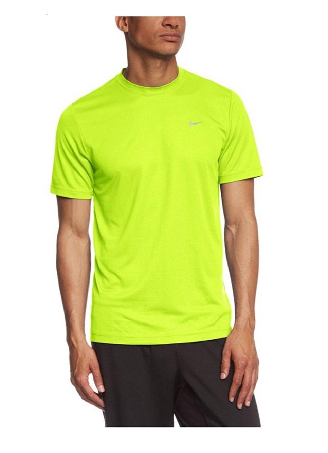 0637318616cb7 Amazon.com: Nike Men's Challenger SS T Shirt Volt/Reflective Silver Size  X-Small: Sports & Outdoors