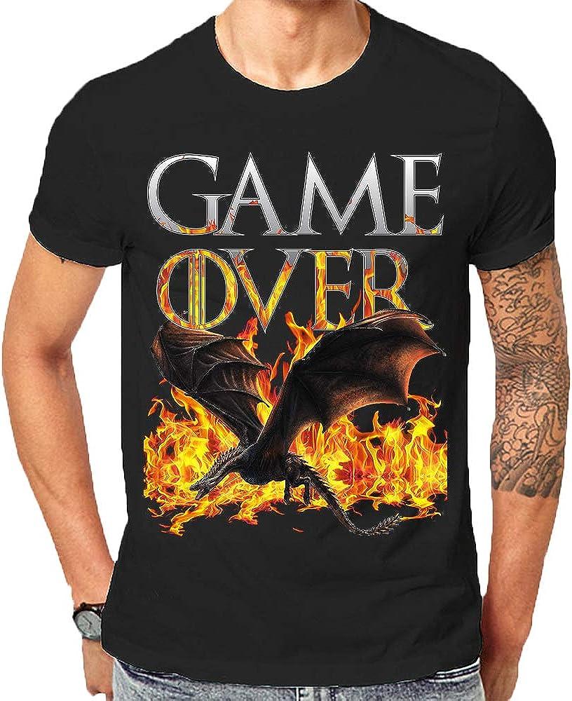 Fire Game of Thrones T Shirt Game Over Final Khaleesi Targaryen Dragons Gift T-Shirts
