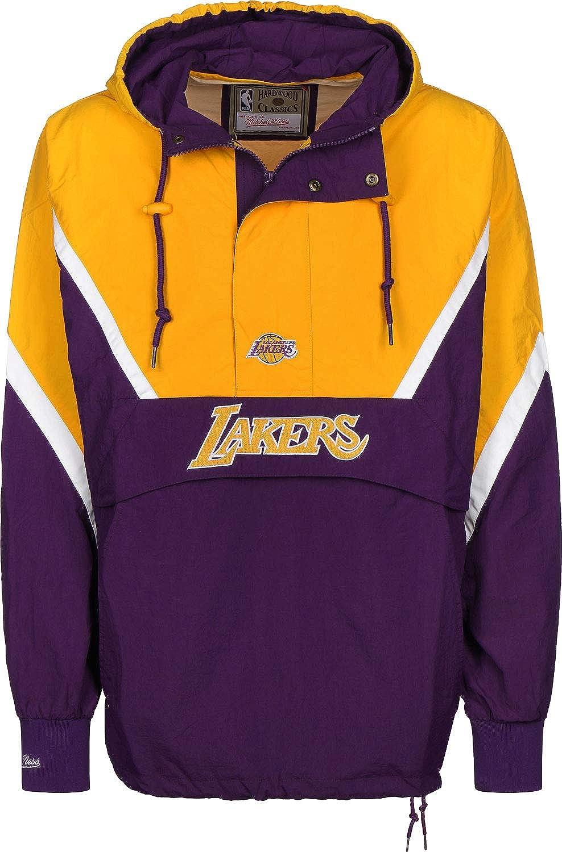 Mitchell & Ness Los Angeles Lakers Half Zip Anorak Jacket Windbreaker NBA HWC Jacke(XXL, Yellow): Amazon.es: Ropa y accesorios