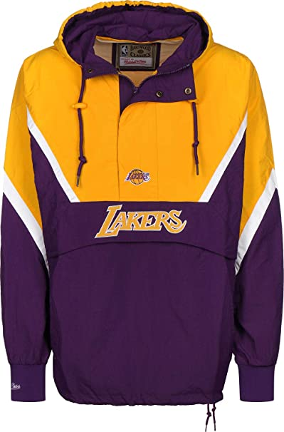 Mitchell & Ness Los Angeles Lakers Half Zip Anorak Jacket ...