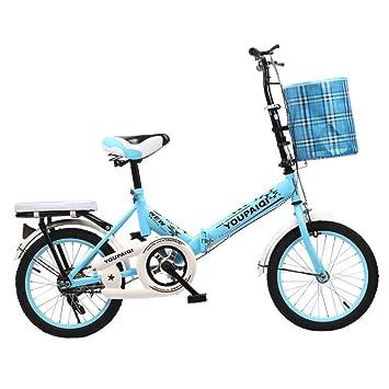 YEARLY Bicicleta plegable estudiante, Bicicleta plegable infantil Bicicletas plegable niños Estudiantes Niños ≥8 años