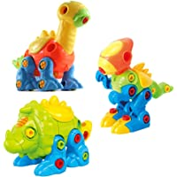 CAILLU Dinosaur Stem Toys DIY Set,stem green Toys Learning,take Apart Dinosaur Fun,Construction Engineering Building Play Set For Boys,girls,toddlers,best Toy Gift Kids Ages 3,4,5,6,7,8,9,10-Year-Olds