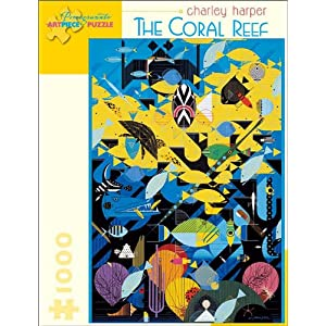 Charley Harper The Coral Reef 1000 Piece Puzzle Inglese Giocattolo 15 Set 2008