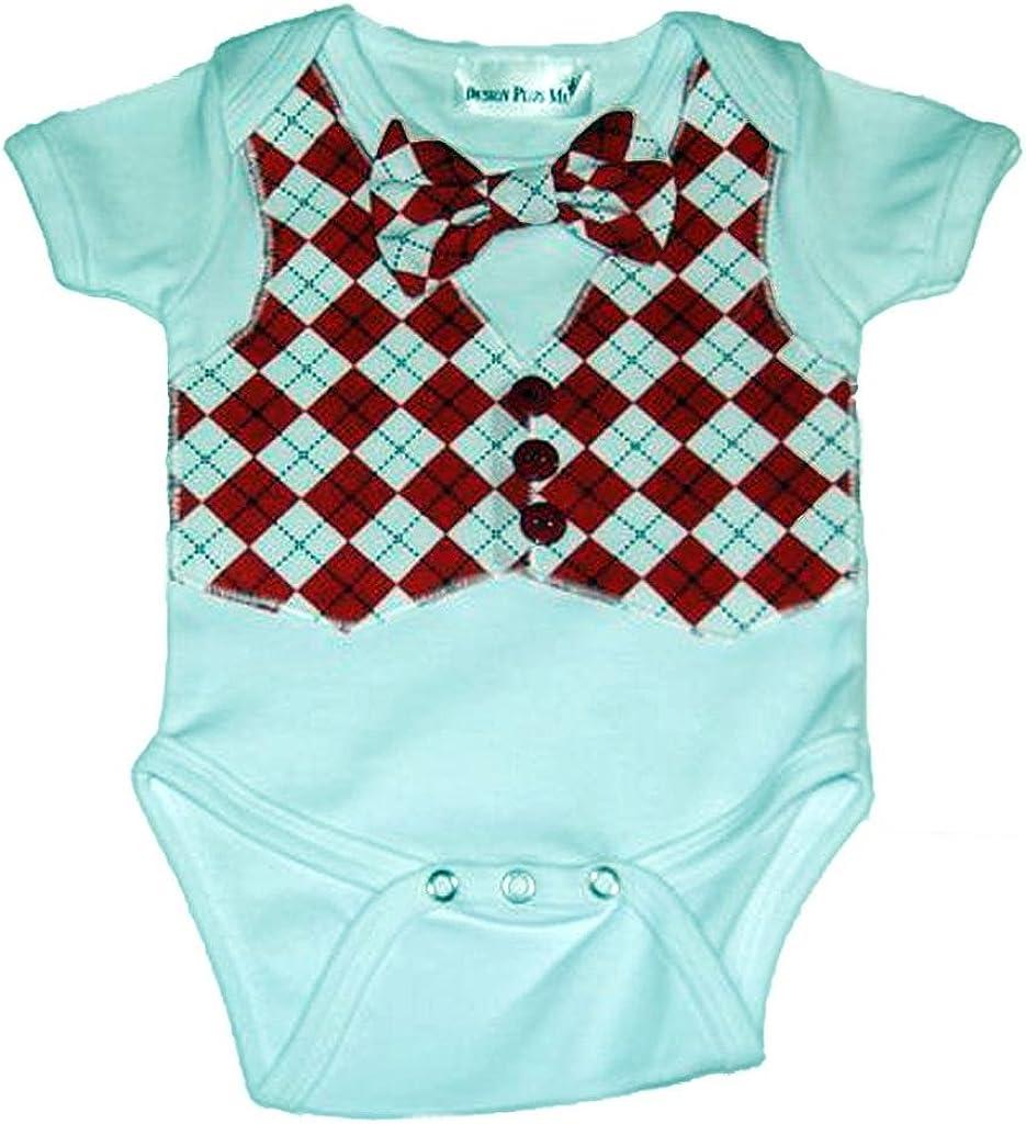 Design Plus Me Baby Boys Argyle Onesie