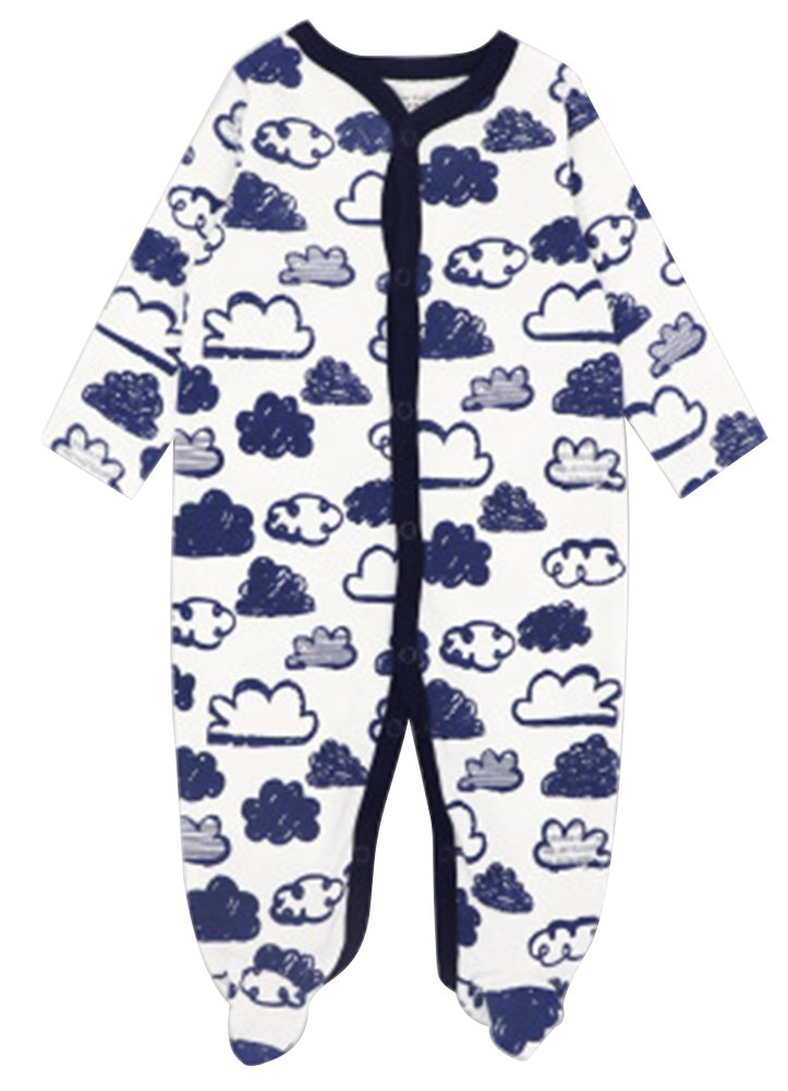 2511f66e20 Fairy Wings Baby Boys  Footed Sleeper Pajamas Coveralls Sleep and Play  Rompers