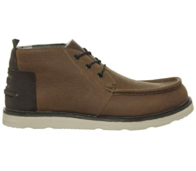 240ecbf7e29 Image Unavailable. Image not available for. Color  TOMS Shoes Chukka Boots  Waterproof Brown Pull Up Leather Mens 7