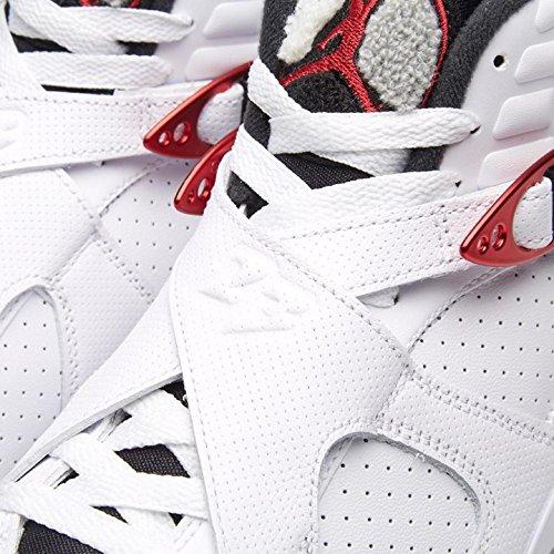 Jordan Air 8 Retro Mens Scarpe Da Basket Bianco, Palestra Rosso-nero-lupo Grigio