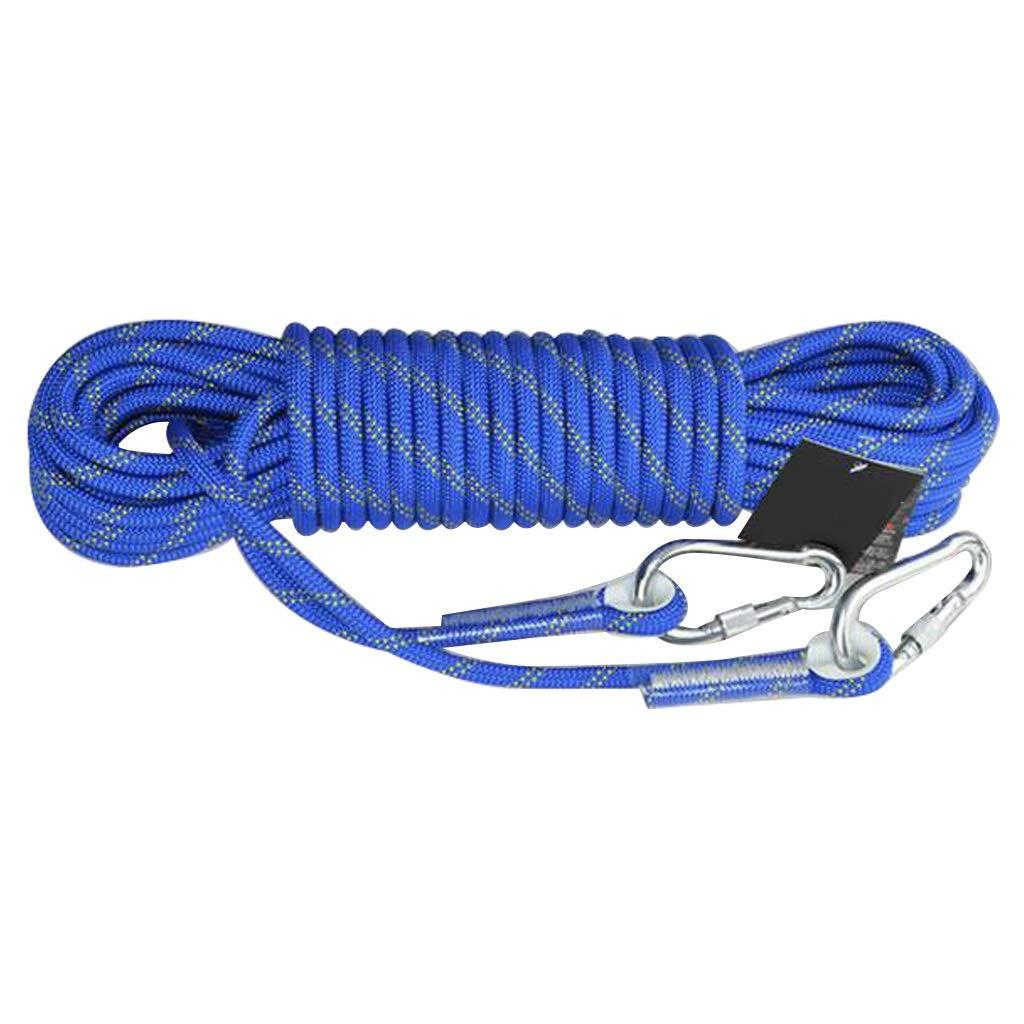 Bleu DLYDSS Corde d'escalade, Corde de sécurité extérieure, Travail sur Corde, diamètre 14 mm, Alpinisme, attachée, Corde de Sauvetage extérieur 40m