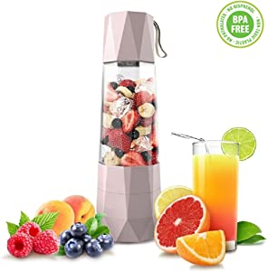 Vacuum Smoothie Blender,Personal Serve Portable USB Juicer Smoothie Maker Blender Anti-oxidation Household High Speed Heavy Duty Ice Fruits Vegetables Shakes Mixers for Sports Travel etc BPA free