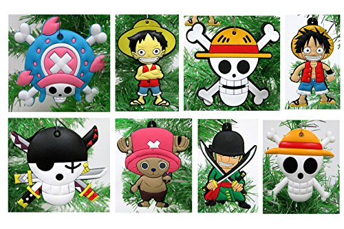 (One Piece Holiday Christmas Tree Ornament Set - Unique Shatterproof Plastic Design from 2