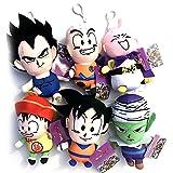 Anime Dragon Ball Z DBZ Vegeta Goku Gohan Piccolo MajinBuu Krillin Plush Doll Hanger Keychain SET
