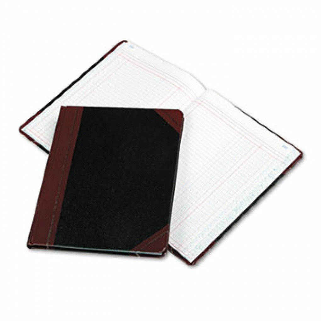 Columnar Book, Two Column, Black Cover, 150 Pages, 10 3/8 x 8 1/8