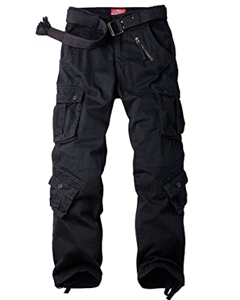 Jessie Kidden Men s Casual Military Cargo Pants cafbecb31b6