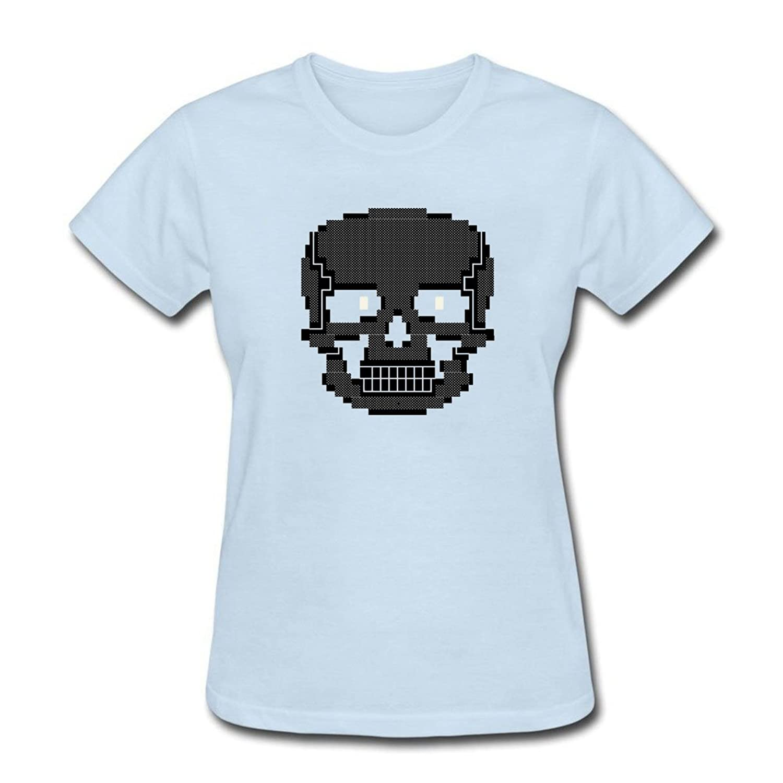 0d7f0ba36 Amazon.com: FPPING Women's Pixel Skull T-Shirt: Clothing