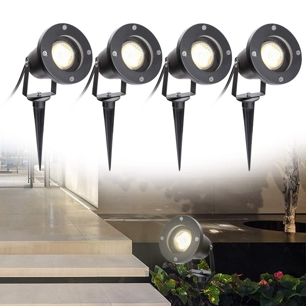 Hengda Foco de Jard/ín GU10 4 W COB LED Jard/ín 2 unidades IP65 85 265 V Blanco C/álido Resistente al agua