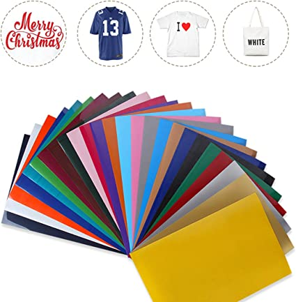 Heat Press Adhesive Vinyl Iron-On Transfer DIY Design for T-Shirts GIO-FLEX PVC Heat Transfer Vinyl 10 x 12-20 Sheets HTV White Colors//Variety Pack