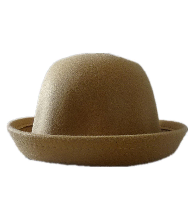 YEYON Vintage Women Lady Cute Trendy Wool Felt Bowler Derby Fedora Hats