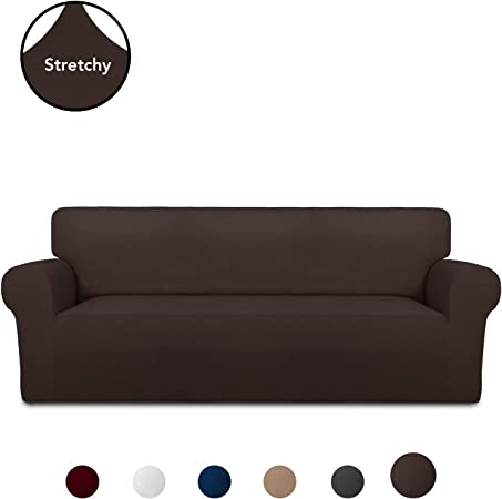 PureFit Super Stretch Chair Sofa Slipcover – Spandex Non Slip Soft Couch Sofa Cover, Washable Furniture Protector with Non Skid Foam and Elastic ...