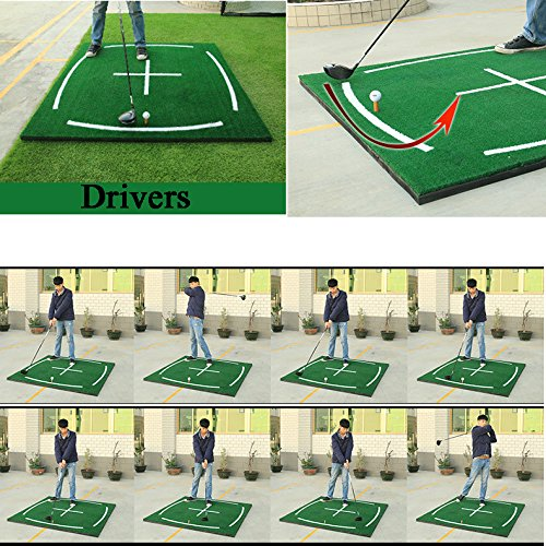 PGM Golf Course Hitting Mat Driving Range Practice Mat----4.92FT X 4.92FT, With Alignment Line, Teaching Equipments by PGM (Image #6)