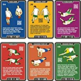 Stack 52 Bodyweight Exercise Cards: Workout Playing Card Game. Designed by a Military Fitness Expert. Video Instructions Included. No Equipment Needed. Burn Fat Build