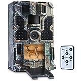 TOMSHOOトレイルカメラ防犯カメラ監視20m検知範囲1080P 0.2S高速トリガー48個赤外線LEDライト防水防塵赤外線LED暗視